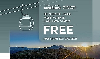 Free cableway pass in May and June 2021 - 2023